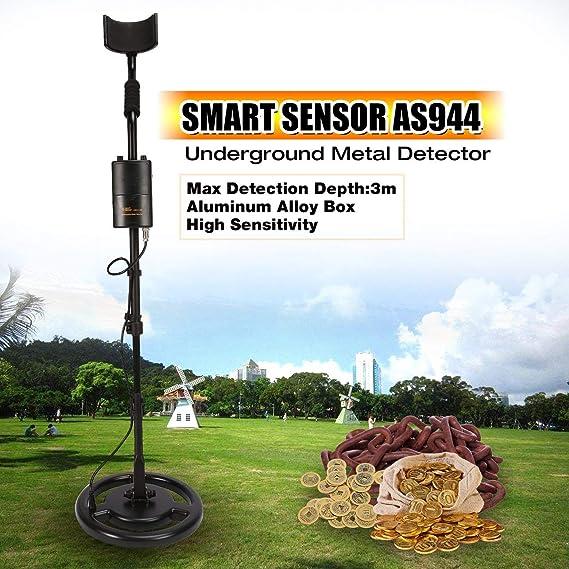 Amazon.com: WOSOSYEYO Smart Sensor AS944 Professional Underground Metal Detector Adjustable Gold Silver Finder Treasure Hunter Tracker 3m ...
