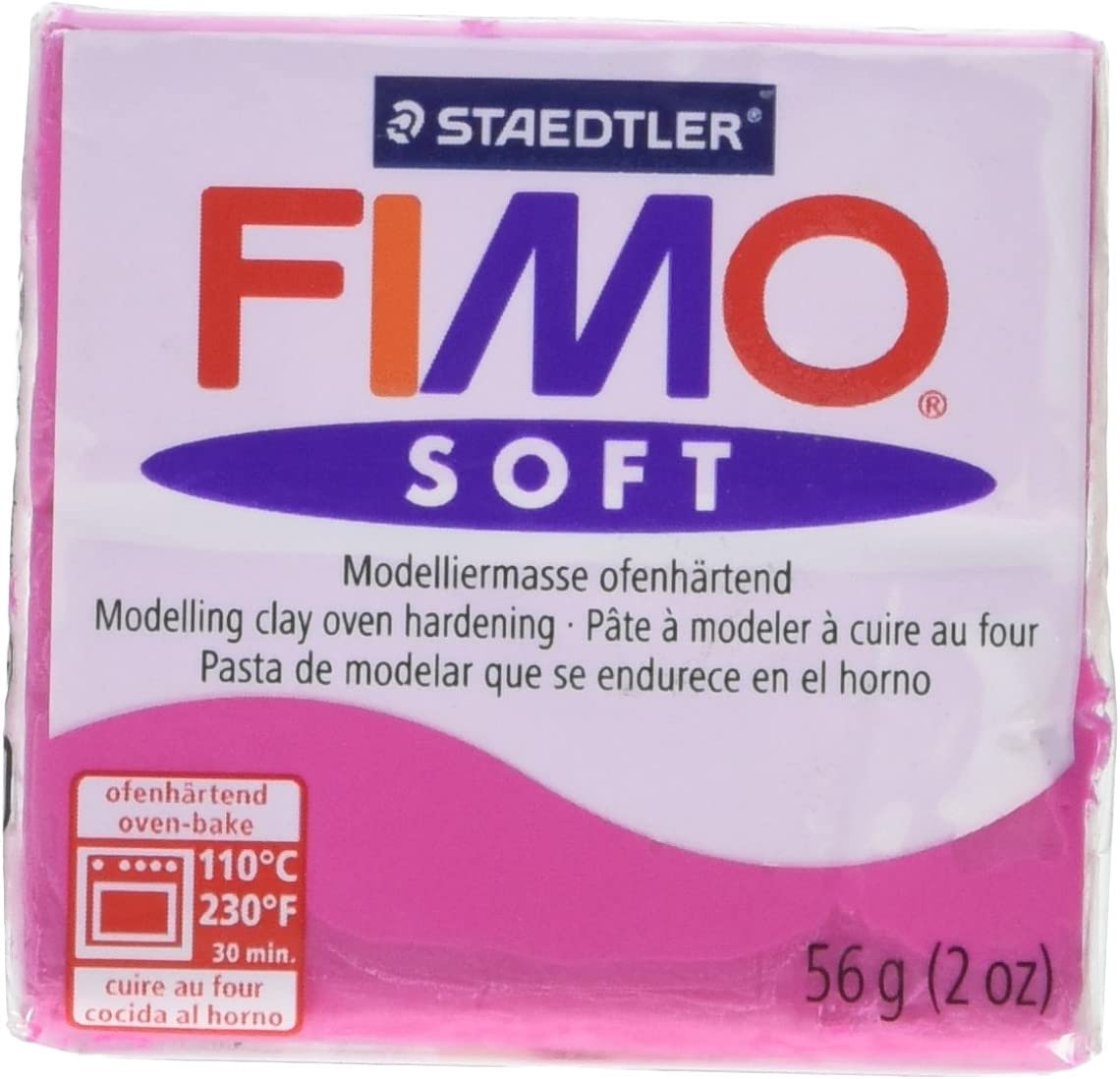 Staedtler Fimo Soft Polymer Clay 2 Ounces-8020-22 Raspberry