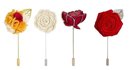 Amazon.com: Knighthood disfraz de juego de 4 flor alfileres ...