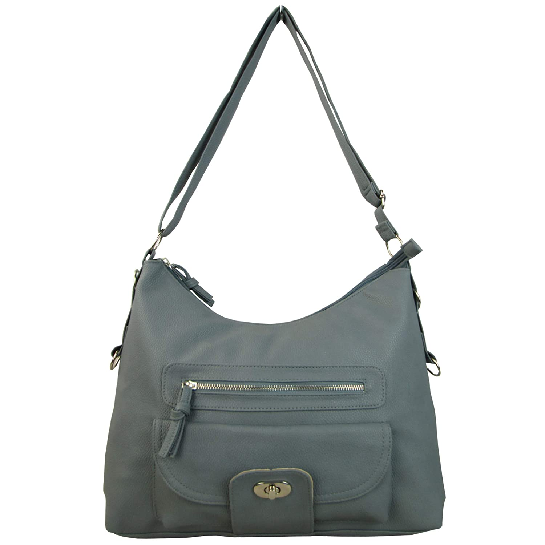 da56f988b7e Xardi London Large PU Leather Cross Body Bag with Compartment - Over ...