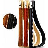 Jisoncase Klasse Halter Apple Pencil Leder Stiftehalter für Apple 9.7 Zoll / 12.9 Zoll / 10.5 Zoll iPad Pro Stift Ledertasche Hülle aus echtem Leder, schwarz, JS-APL-01A10