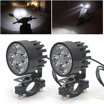 Ebuybox 2x Universal Motorrad Scheinwerfer Flutlicht Nebel Licht 4 Led Lampe Lichter 12v 85v Auto