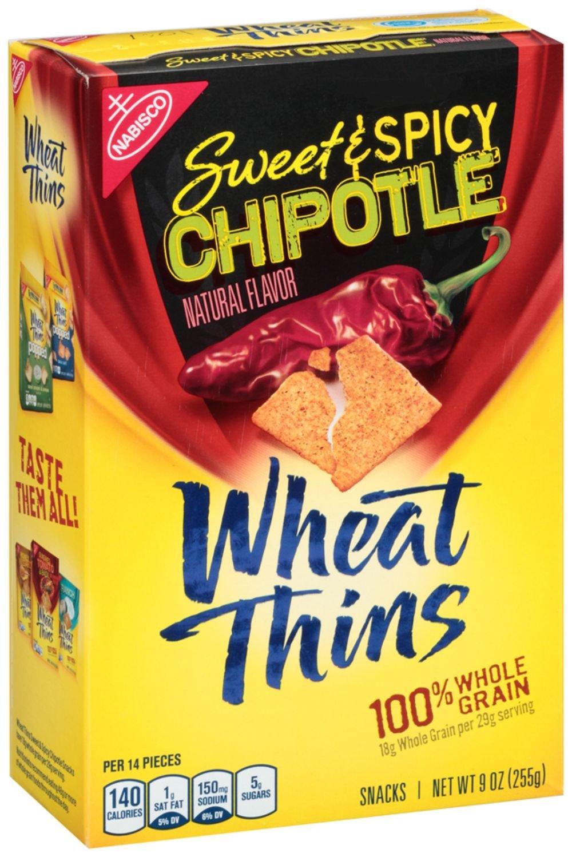 amazon com nabisco wheat thins sweet u0026 spicy chipotle 9oz box