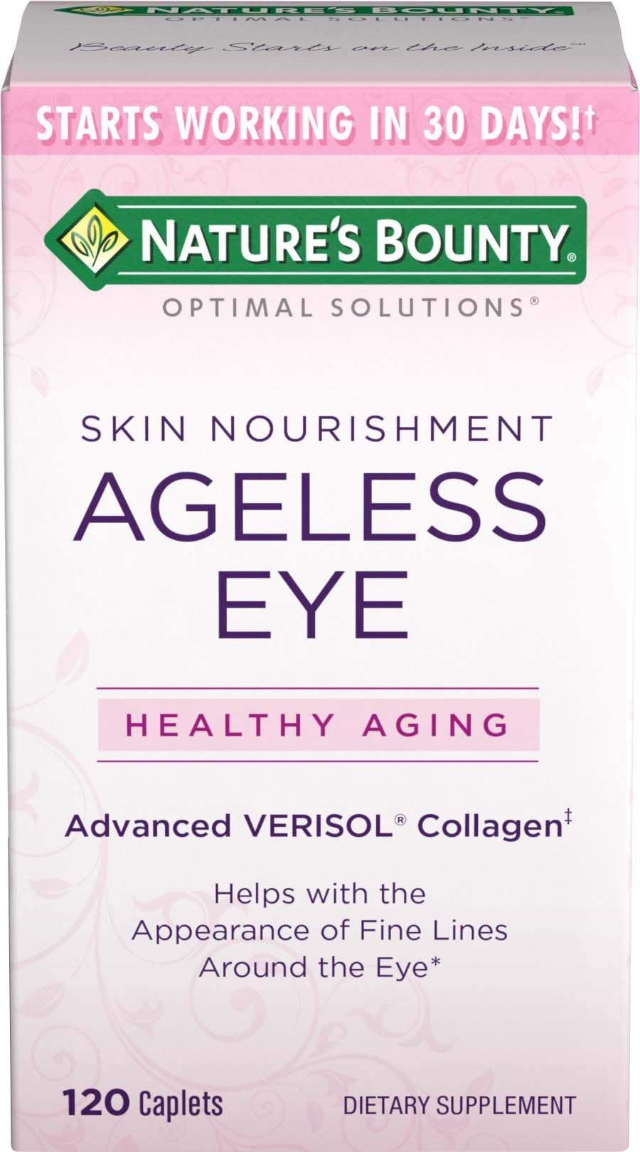 Nature's Bounty Optimal Solutions Ageless Eye Verisol Collagen, 120 Caplets