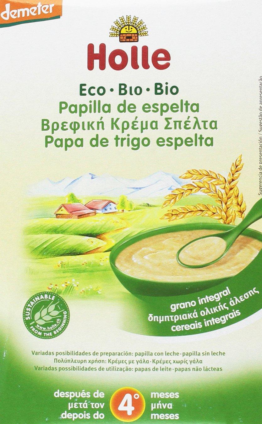 Holle Papilla de Copos de Avena (+4 meses) - Paquete de 6 x 250 gr - Total: 1500 gr: Amazon.es: Alimentación y bebidas