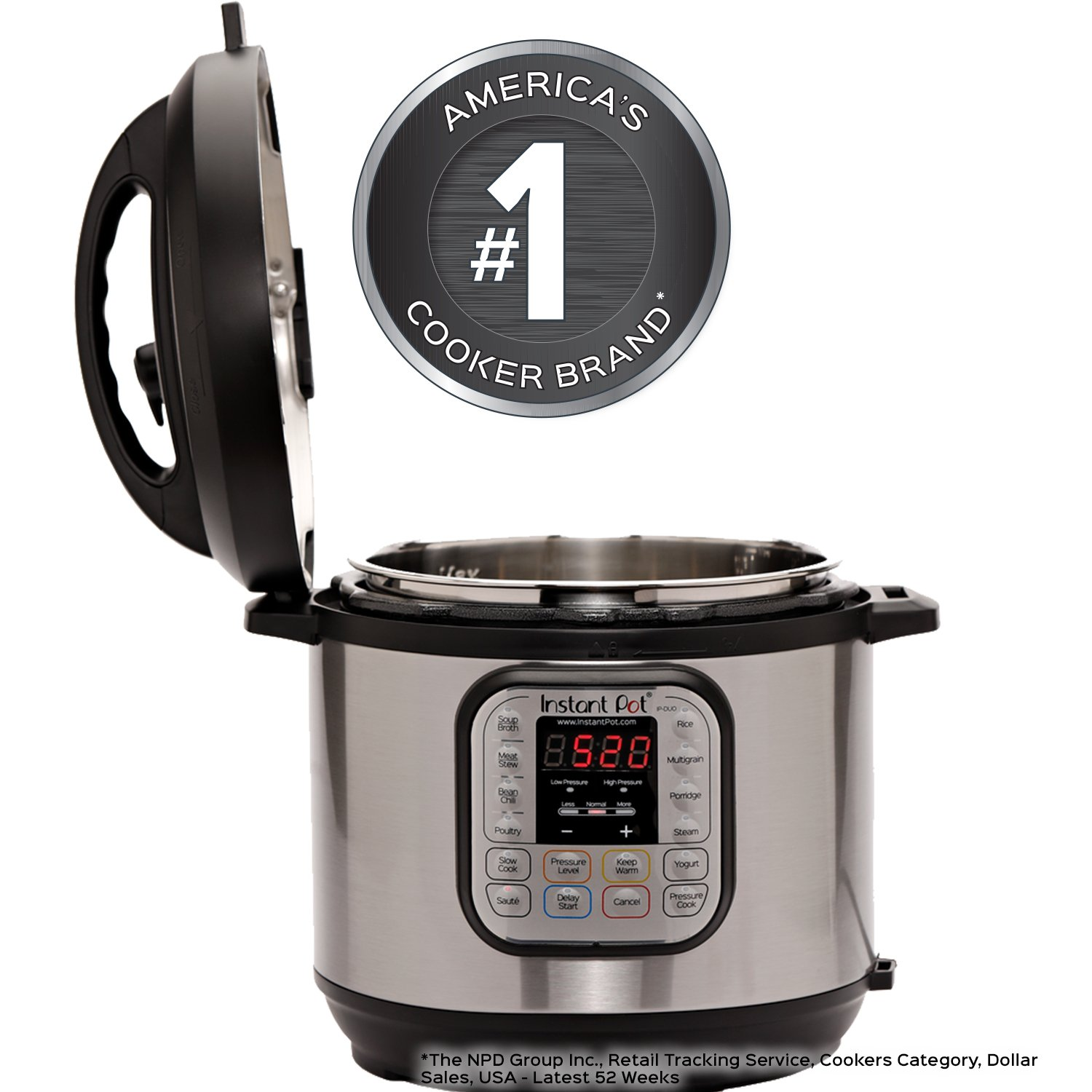 Instant Pot DUO80 8Qt 7-in-1 Multi-Use Programmable Pressure Cooker, Slow Cooker, Rice Cooker, Steamer, Sauté, Yogurt Maker and Warmer