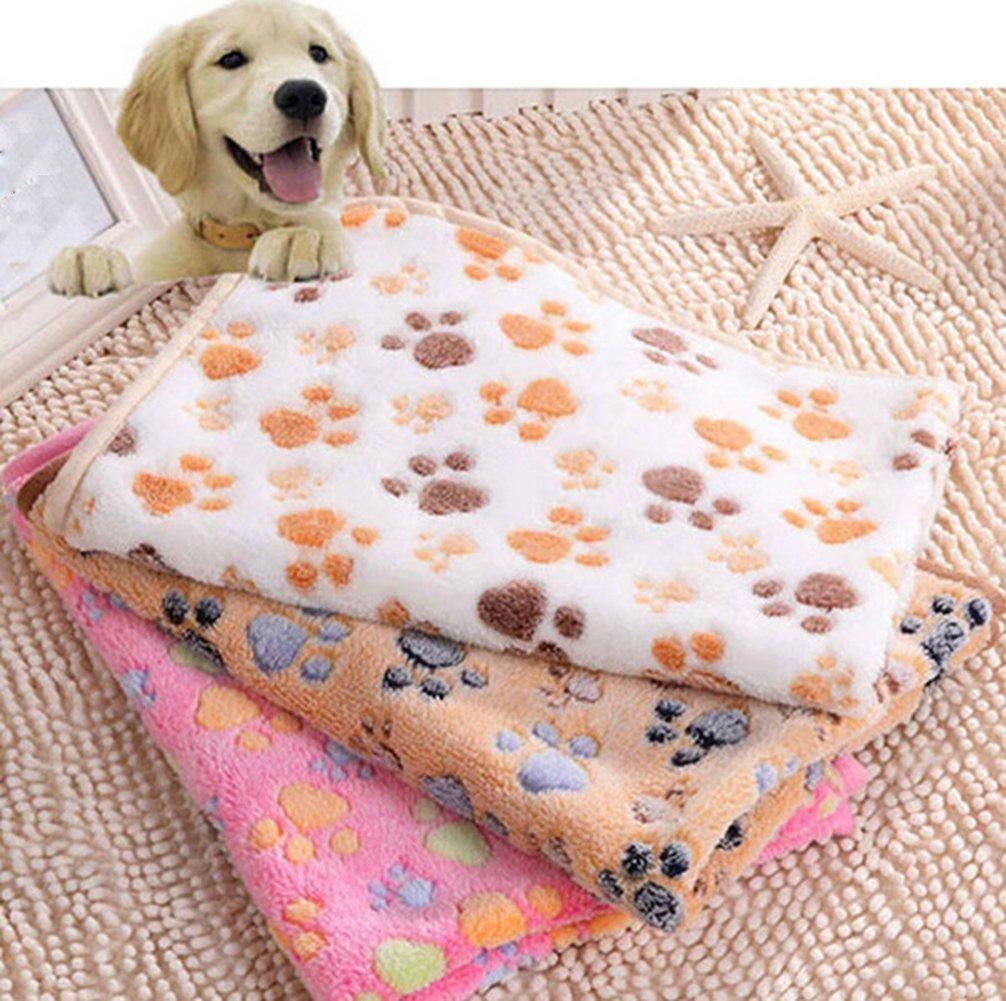 Cdet Cobija pequeño pañuelo de Cachorro de Perro Puppy paño de Malla Suave Suministros para Mascotas 20 * 20cm,Caqui: Amazon.es: Hogar