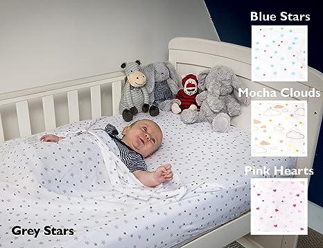 Cama de cuna única Todo en uno Saco de cama de bebé, estrellas azules