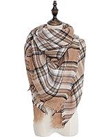 Spring fever Cozy Plaid Long Winter Shawl Lattice Oversized Blanket Scarf Wrap A46