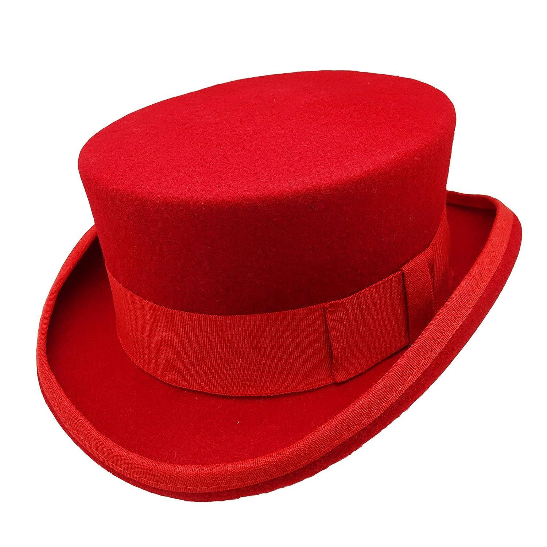 HATsanity Unisex Vintage Wool Felt Formal Tuxedo Coachman Hat WL27