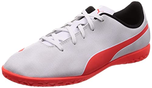 5060247fbfc5f Puma Boys   Girls Football Rapido IT Jr White Sports Shoes