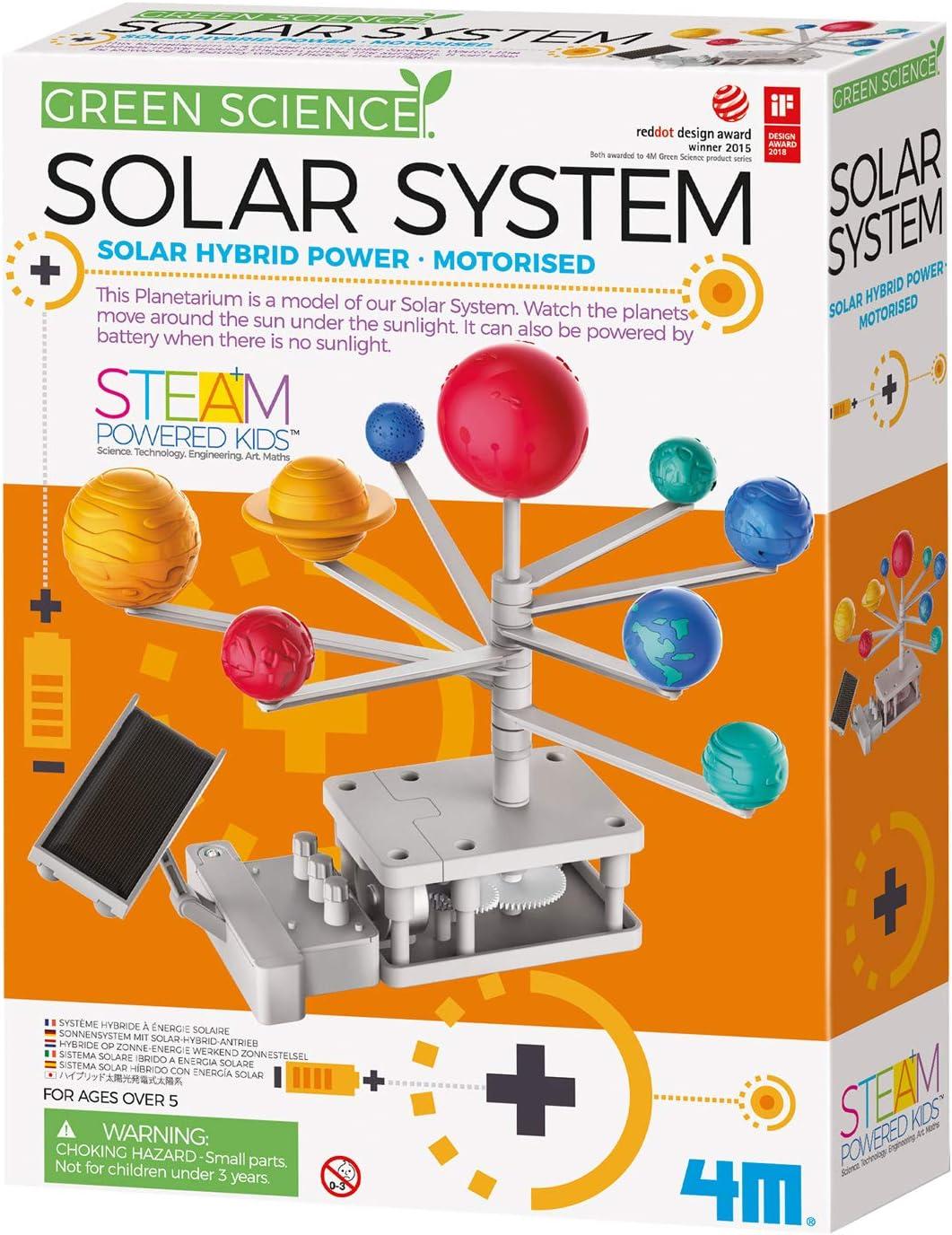 4M- Green Science Motorised System-Solar Hybrid Power Sistema motorizado, Multicolor (00-03416)