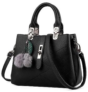 essvita stylish women pu leather bags top handle handbags office