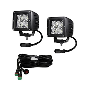 71lTecszQFL._SY355_ amazon com 6kled 12w led work light pair 3w chips square  at n-0.co