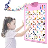 MOFANG Electronic Interactive Alphabet Wall Chart, Talking ABC & 123s & Music Poster, Best Educational Toy for Toddler…