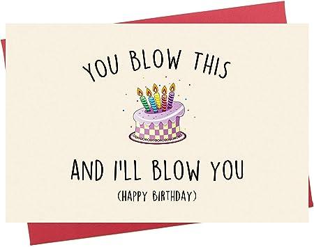 Amazon.com: Tarjeta de cumpleaños divertida para novio con ...