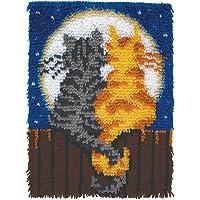 Patons Wonderart - Juego de Ganchos para Cerrojo, Moonlight Meow 15 X 20, Moonlight Meow 15 x 20, 1