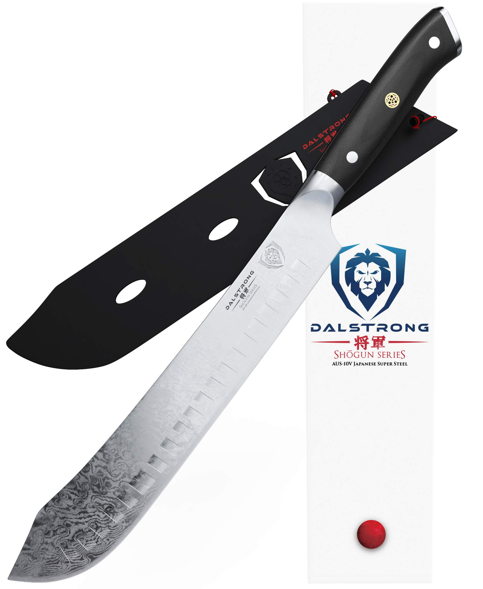 DALSTRONG Bull Nose Butcher Knife - Shogun Series - 10'' -Japanese AUS-10V Super Steel - Vacuum Heat Treatment - with Sheath - Meat, BBQ, Breaking Knife by Dalstrong