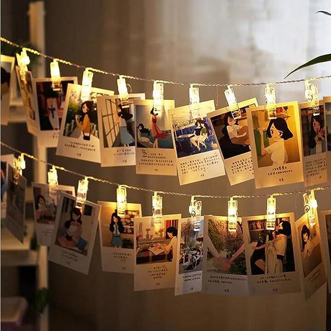 5 opinioni per Tophie Foto Clip di Notte Luci Bianco Caldo 20 LED Light Strip 2 Metri di Fairy