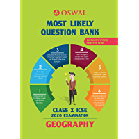 Most Likely Question Bank for Geography: ICSE Class 10 for 2020 Examination