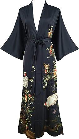 Cool 80/'s lightweight long Kimono with Pockets