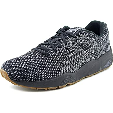 Newest Puma R698 Knit Mesh V2.1 Black Mens Trainers Outlet UK0886