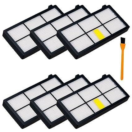 6pcs Filtro HEPA para iRobot Roomba 800 870 880 aspiradora de 980, honfa Kit de
