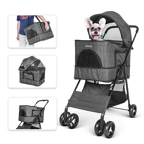 besrey Cochecitos para Perros Mascotas Plegable Viaje ...