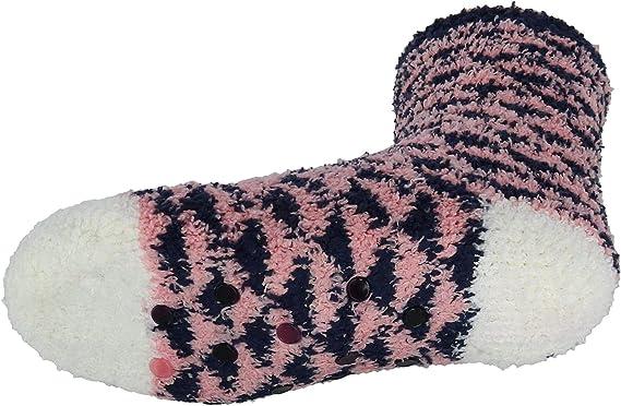 Beverly Hills Polo Club Girls Plaid Slipper Socks
