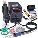 YIHUA 8786D I 2 in 1 Hot Air Rework and Soldering Iron Station with °F /°C, Cool/Hot Air Conversion, Digital Temperature Corr