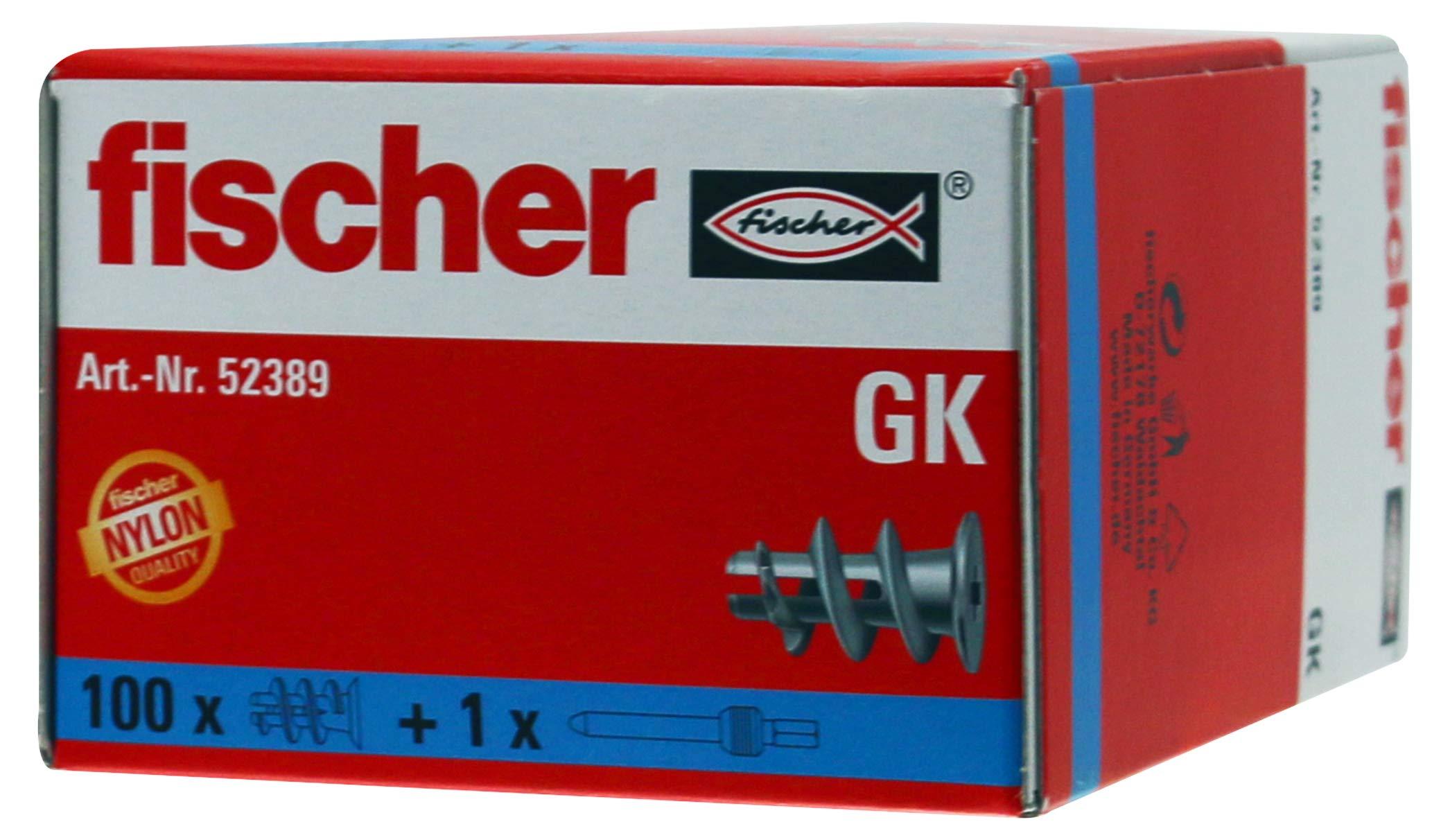 Fischer GK 52389 Rawlplugs Pack of 100 by Fischer