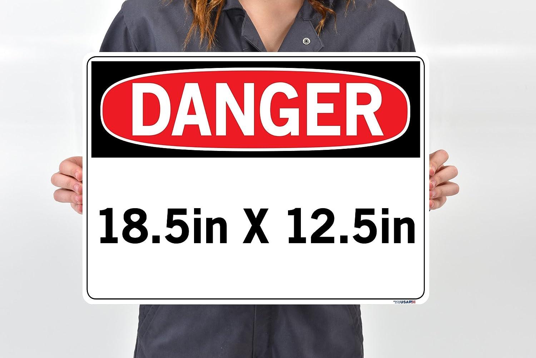 Vinyl,, Vestil SI-D-27-B-LB-011-S Danger Sign, Volume Capacity