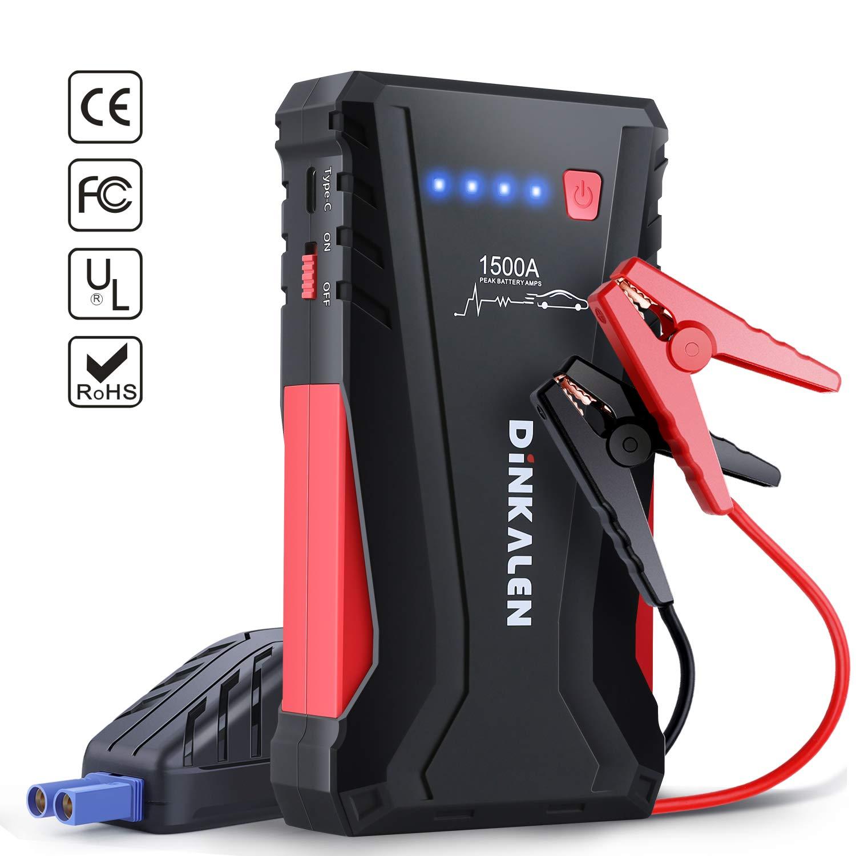 Car Jump Pack >> Amazon Com Dinkalen Car Jump Starter 1500a Peak 12v Car Battery