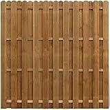 vidaXL Panneau de clôture en bois avec planches intercalées Panneau occultant