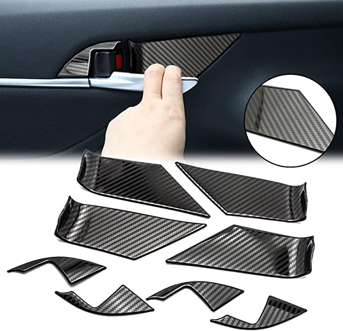Carbon fiber Inner front Door Armrest Handle Strip Cover For Toyota Corolla 2020