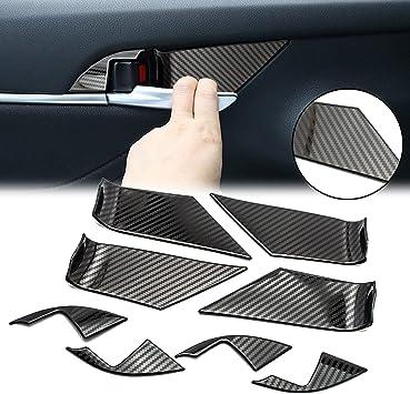 8pcs Carbon Fiber Look Door Handle Cover Trim Smart Hole For Honda Accord 2018