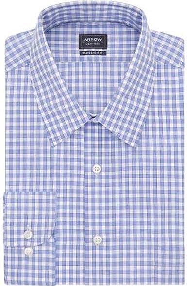 Arrow 1851 Camisa de Vestir de Cuadro a Cuadros de Cuadros de ...