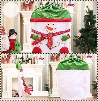 Justdolife Christmas Chair Cover Santa Snowman Printing Chair Cover 2e3e01d6e61d