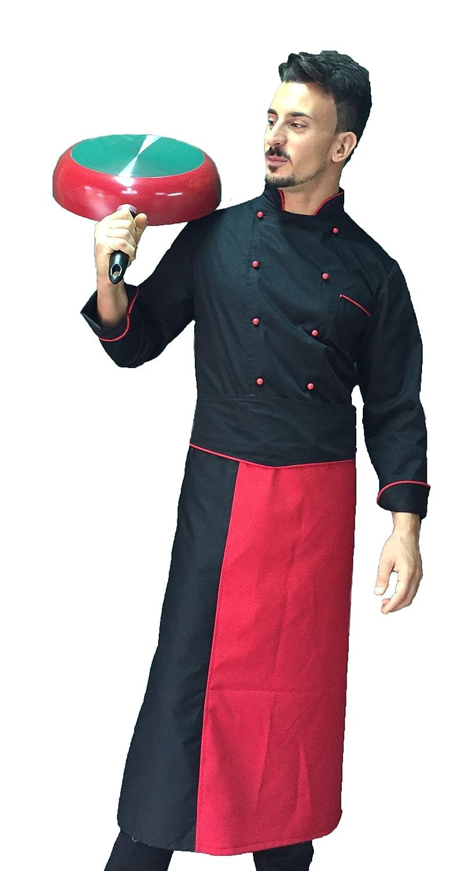 tessile astorino completo divisa per cuochi e chef, Giacca Pantalone Davantino, inserti rossi, Made in Italy
