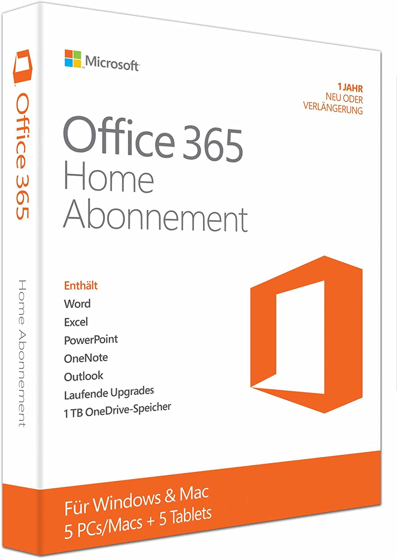 Microsoft Office 365 Home 5pcs Macs 1 Jahresabonnement Multilingual Product Key Card Ohne Datenträger Software