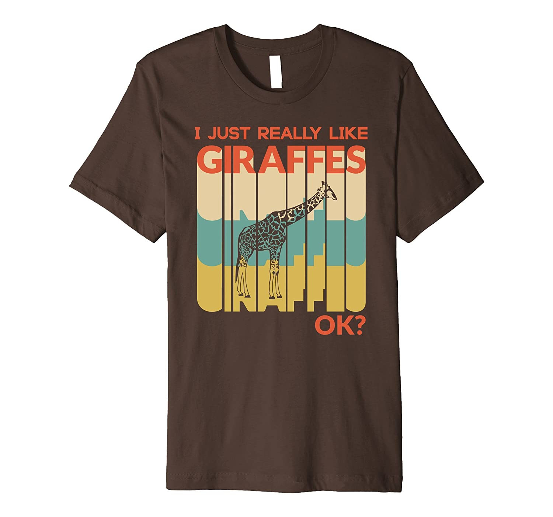 I Just Really Like Giraffes, OK ? tShirt Vintage Retro-AZP