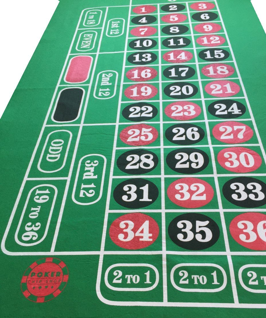 Poker Chip Shop Roulette-Filzteppich, riesig, grü n, 180 x 90 cm Start Spreading the News Ltd
