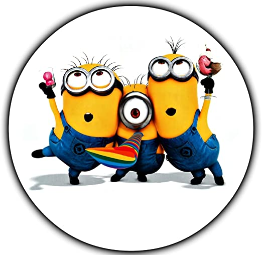 Remarkable Amazon Com Minions Despicable Me Edible Image Photo 8 Round Cake Personalised Birthday Cards Cominlily Jamesorg