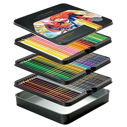 VicTsing 72 Lapices de Colores Numerados, Estuche Metálico, Set profesional para Vuelta al Cole, Adultos, Niños, Nuevos y Artistas, Regalo Ideal