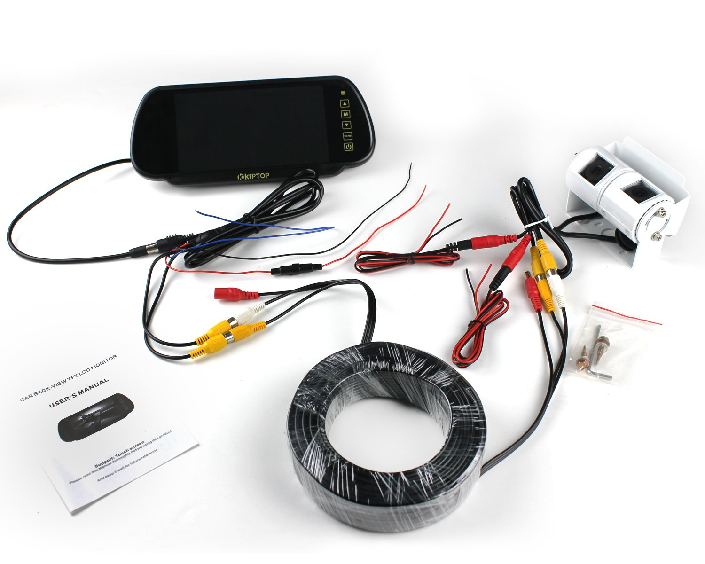 Kiptop Motorhome Twin Camera Rear View Reversing Kit Tft Lcd Monitor Wiring Photo