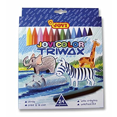 Jovi Triwax Triangular Crayons, Multicolor, Set of 24: Toys & Games