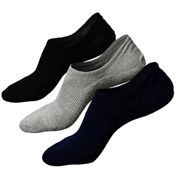 Calcetines de hombre antideslizantes de algodón de corte bajo,Calcetines Invisibles Cortos