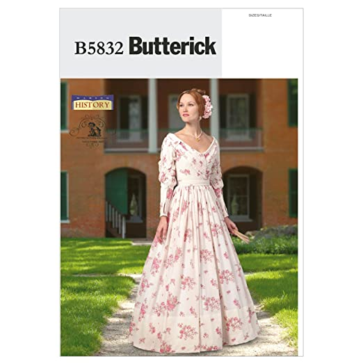 Steampunk Sewing Patterns- Dresses, Coats, Plus Sizes, Men's Patterns 1837-1840 Dress Size A5 (6-8-10-12-14) $7.20 AT vintagedancer.com