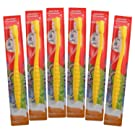Kids Toothbrush, 6-Pack Colgate Bunny Toothbrushes For Children, Sensitive Extra Soft Bristle Cavity and Gum Protection Junior Brush