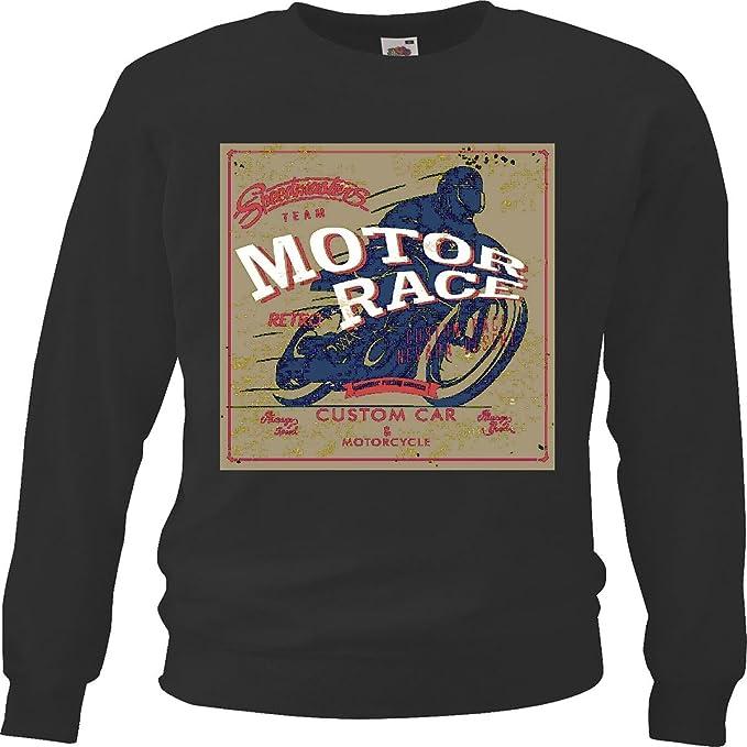 Sudaderas Suéter Velocidad del Motor Car Masters Custom Race y Moto Motorista de la Motocicleta Camisa Motocicleta del Interruptor del cráneo gótico Club de ...